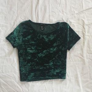 Velvet green top